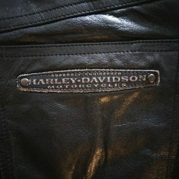 6c1d1bedc Harley-Davidson Pants | Harleydavidson Black Leather Women 36 8 ...
